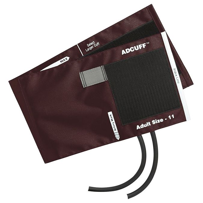 ADC Adcuff Cuff and Bladder with Two Tubes - Adult - Burgundy