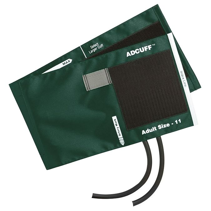ADC Adcuff Cuff and Bladder with Two Tubes - Adult - Dark Green