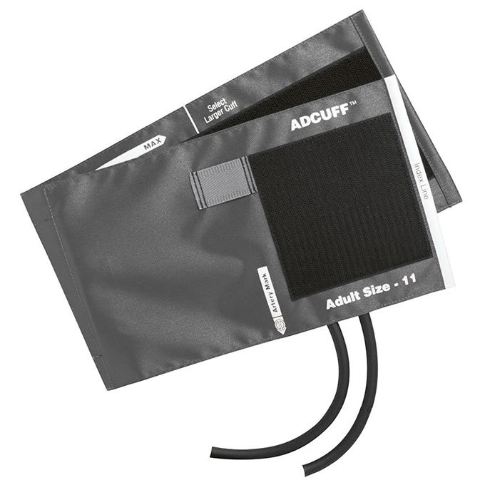 ADC Adcuff Cuff and Bladder with Two Tubes - Adult - Gray