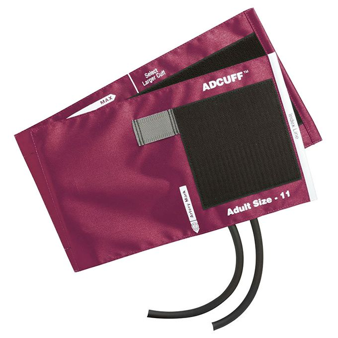 ADC Adcuff Cuff and Bladder with Two Tubes - Adult - Magenta