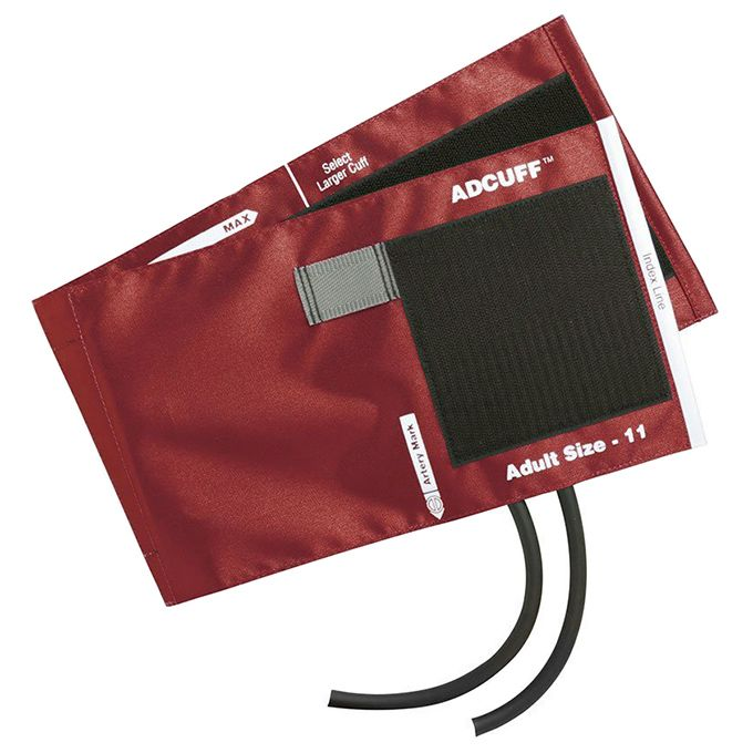 ADC Adcuff Cuff and Bladder with Two Tubes - Adult - Red