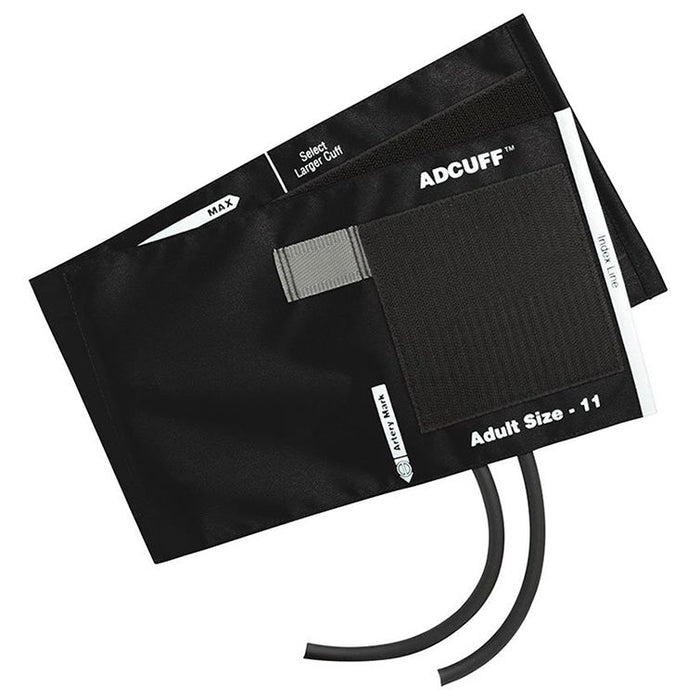 ADC Adcuff Cuff and Bladder with Two Tubes - Adult - Black