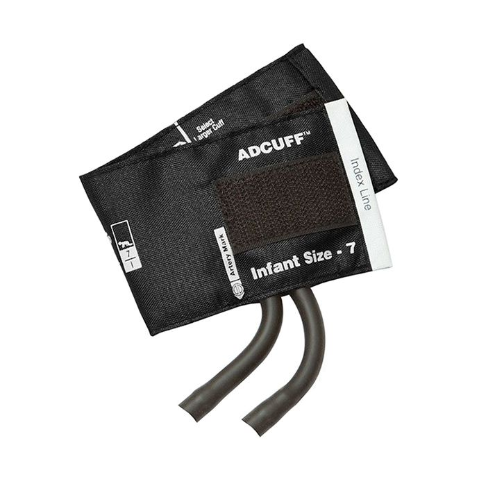 ADC Adcuff Cuff and Bladder with Two Tubes - Infant - Black