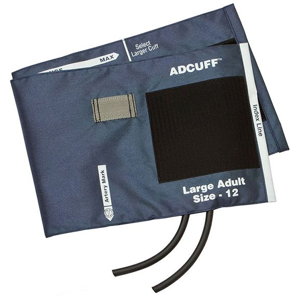 ADC Adcuff Cuff and Bladder with Two Tubes - Large Adult - Navy