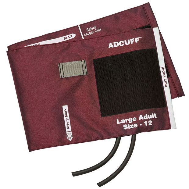 ADC Adcuff Cuff and Bladder with Two Tubes - Large Adult - Burgundy