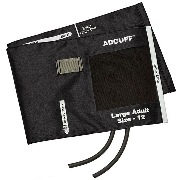 ADC Adcuff Cuff and Bladder with Two Tubes - Large Adult - Black
