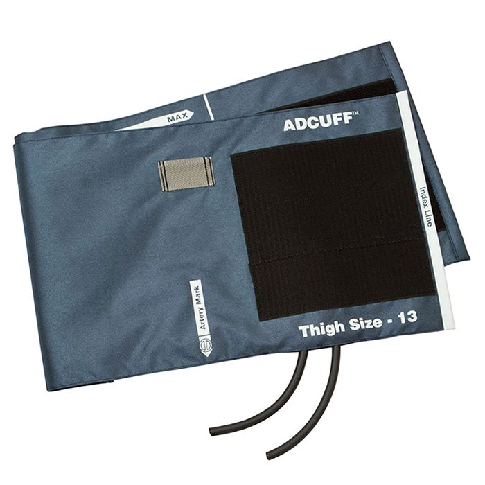 ADC Adcuff Cuff and Bladder with Two Tubes - Thigh - Navy