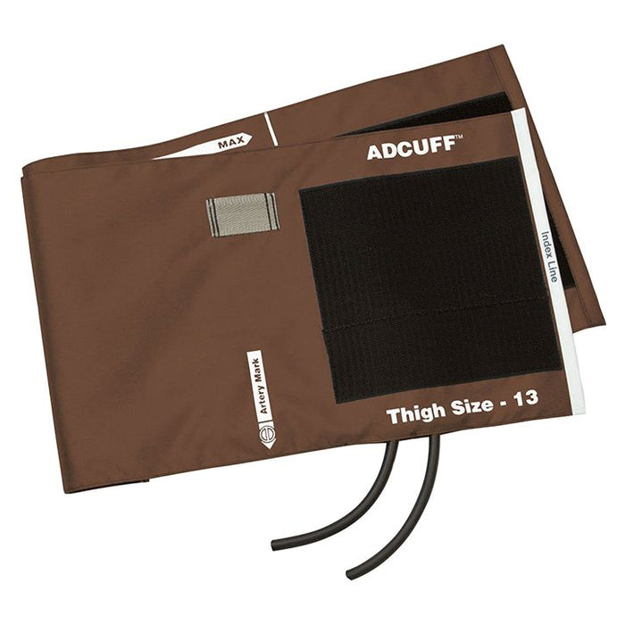 ADC Adcuff Cuff and Bladder with Two Tubes - Thigh - Brown