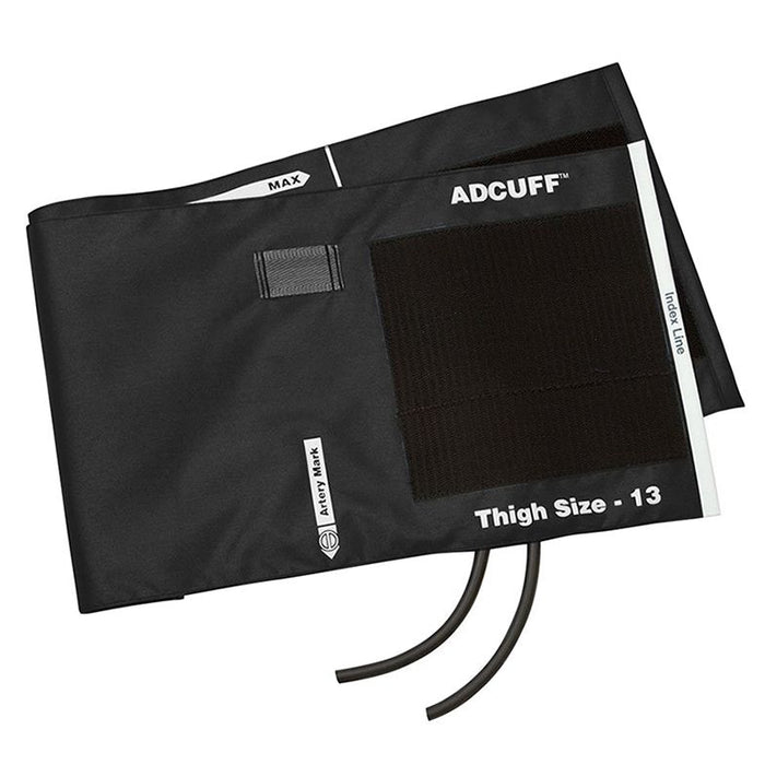 ADC Adcuff Cuff and Bladder with Two Tubes - Thigh - Black