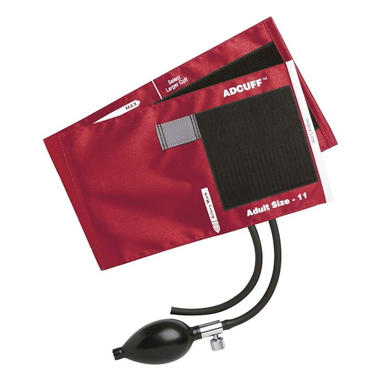 ADC Adcuff Sphygmomanometer Inflation System - Adult - Red