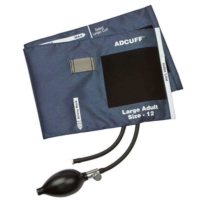 ADC Adcuff Sphygmomanometer Inflation System - Large Adult - Navy