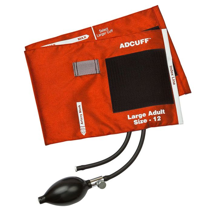 ADC Adcuff Sphygmomanometer Inflation System - Large Adult - Orange