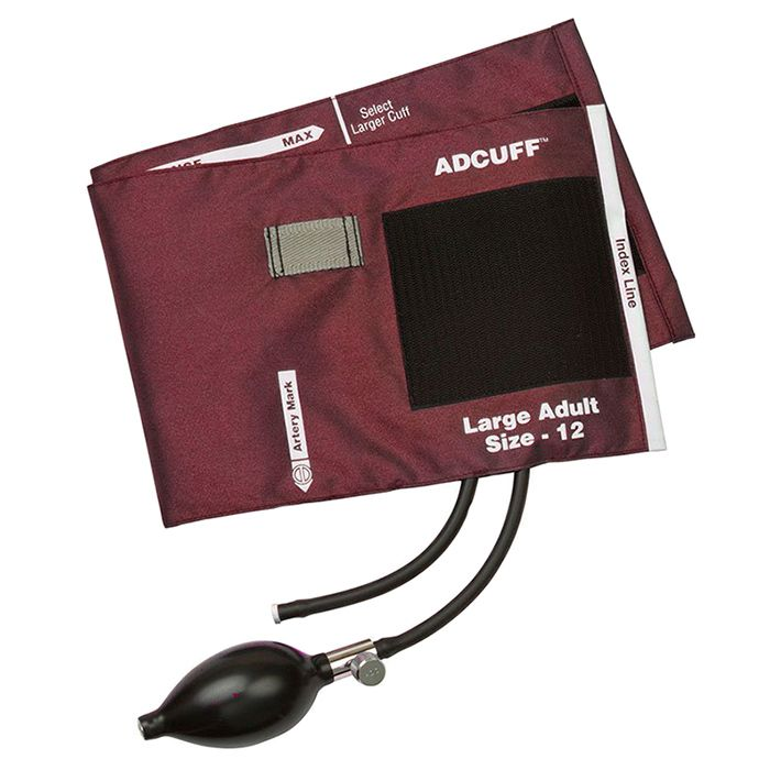 ADC Adcuff Sphygmomanometer Inflation System - Large Adult - Burgundy