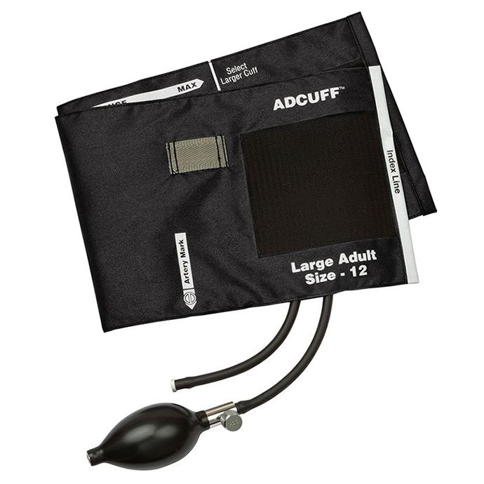 ADC Adcuff Sphygmomanometer Inflation System - Large Adult - Black