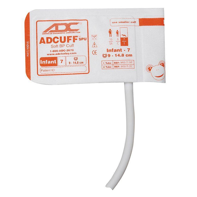 ADC Adcuff SPU Cuff and Bladder with One Tube and Bayonet Connector - Infant - Orange