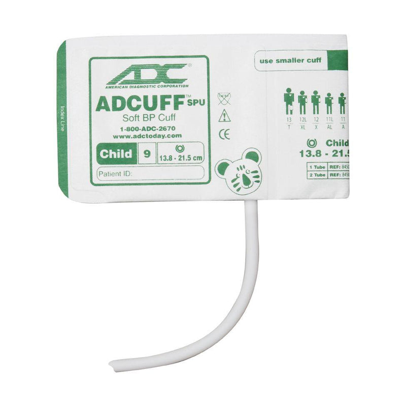 ADC Adcuff SPU Cuff and Bladder with One Tube and Bayonet Connector - Child - Green