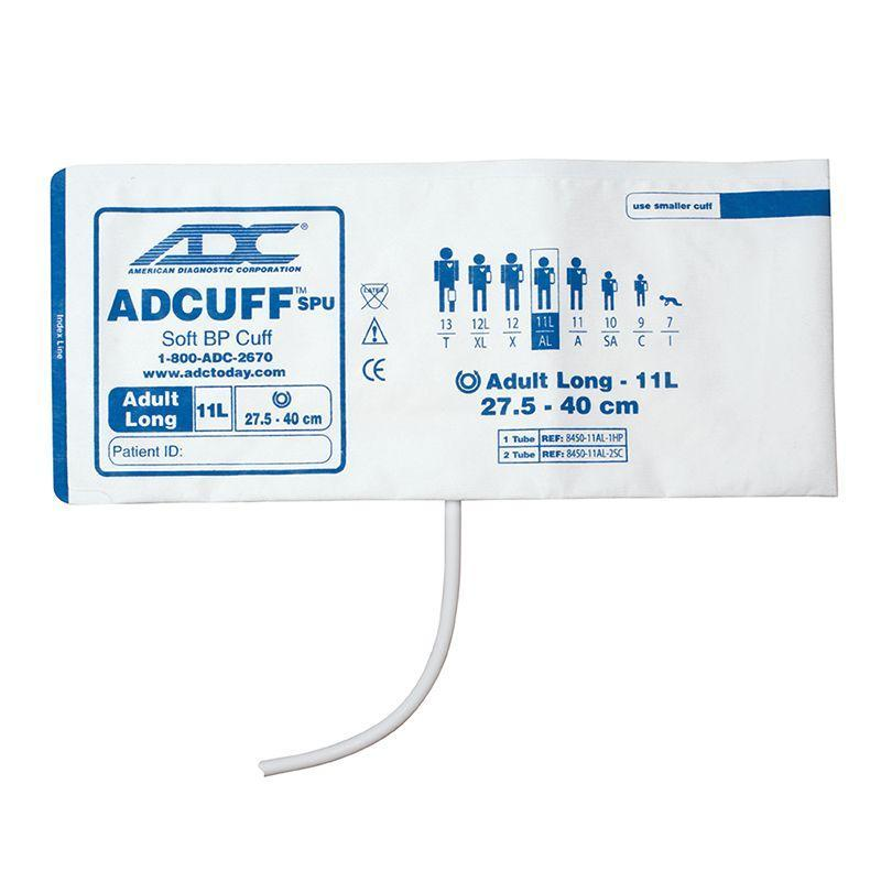 ADC Adcuff SPU Cuff and Bladder with One Tube and Bayonet Connector - Adult Long - Navy