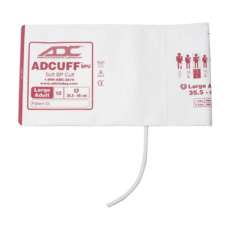 ADC Adcuff SPU Cuff and Bladder with One Tube and Bayonet Connector - Large Adult - Burgundy
