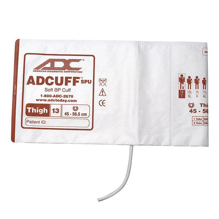 ADC Adcuff SPU Cuff and Bladder with One Tube and Bayonet Connector - Thigh - Brown