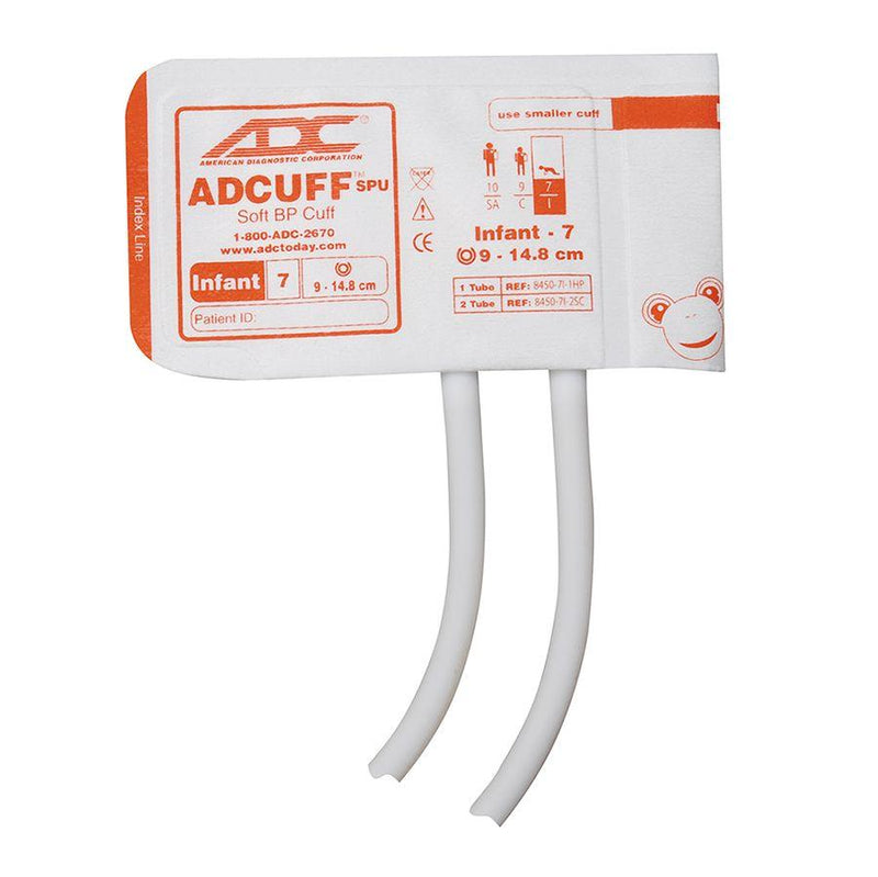 ADC Adcuff SPU Cuff and Bladder with Two Tubes - Infant - Orange