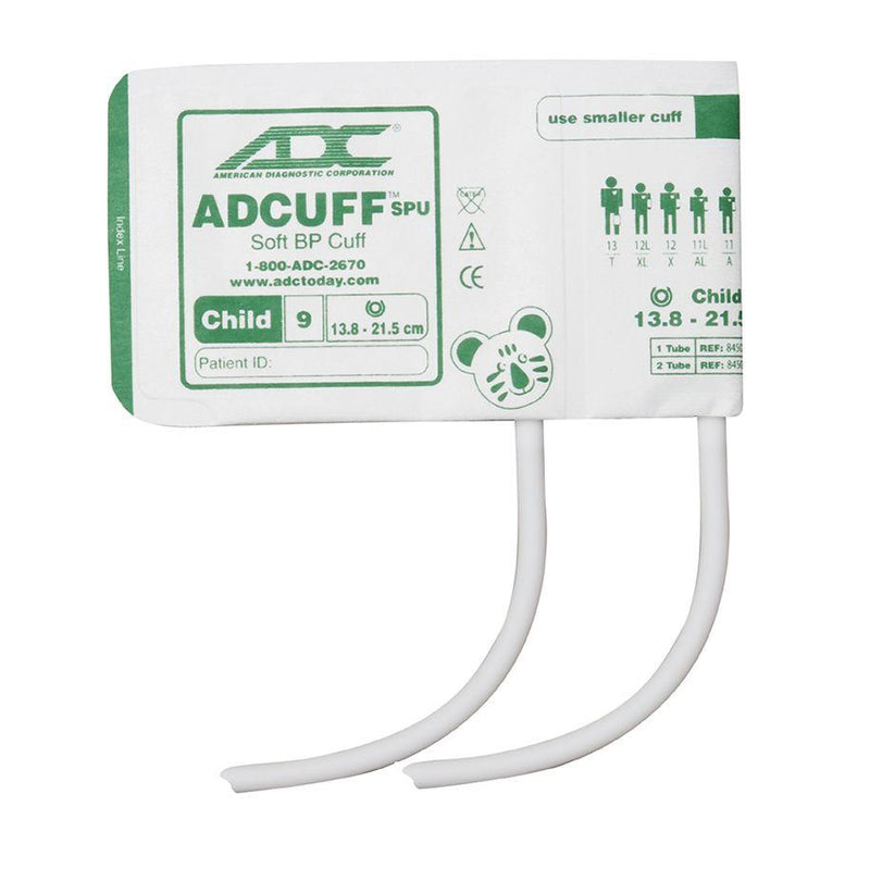 ADC Adcuff SPU Cuff and Bladder with Two Tubes - Child - Green