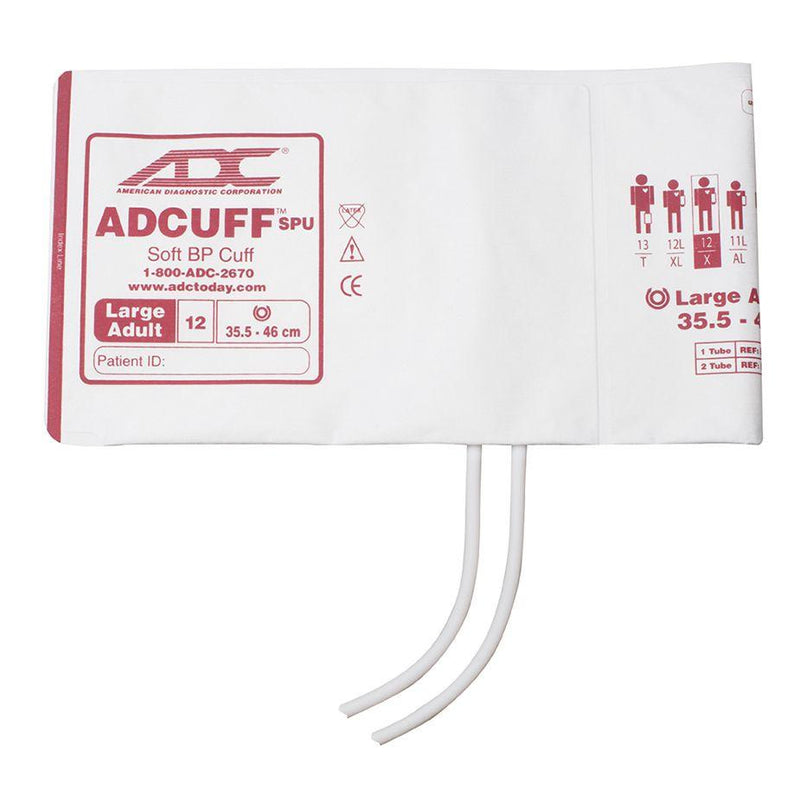 ADC Adcuff SPU Cuff and Bladder with Two Tubes - Large Adult - Burgundy