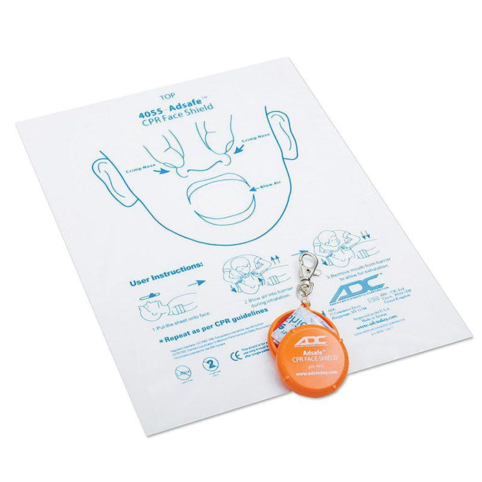 ADC Adsafe CPR Face Shield with Keychain - Orange