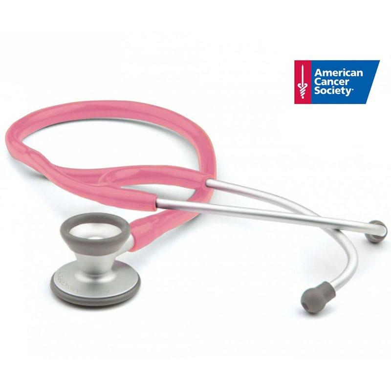 ADC Adscope 606 Ultra-lite Cardiology Stethoscope - Breast Cancer Awareness Metallic Pink