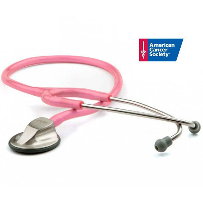 ADC Adscope 615 Platinum Clinician Stethoscope - Breast Cancer Awareness Metallic Pink
