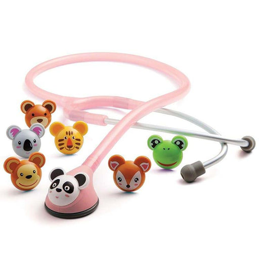 ADC Adscope Adimals 618 Platinum Pediatric Stethoscope - Adimals Pink