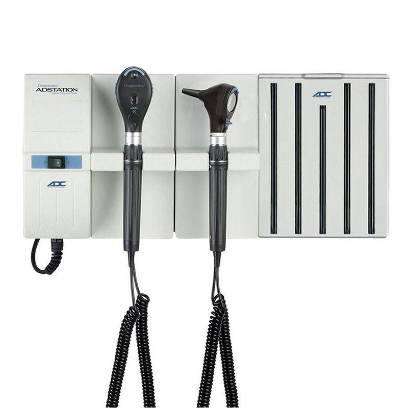 ADC Adstation 5610 3.5V Wall Otoscope/Ophthalmoscope Diagnostic Set with Specula Dispenser