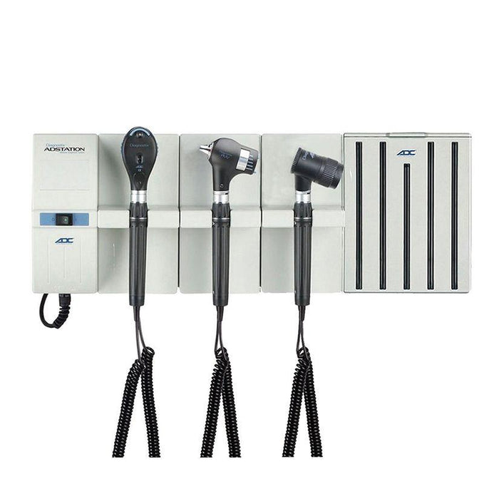 ADC Adstation 56802-5 3.5V Wall PMV Otoscope/Coax Plus Ophthalmoscope/Dermascope Diagnostic Set with Specula Dispenser