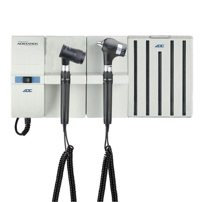 ADC Adstation 5681-5 3.5V Wall PMV Otoscope/Dermascope Diagnostic Set with Specula Dispenser