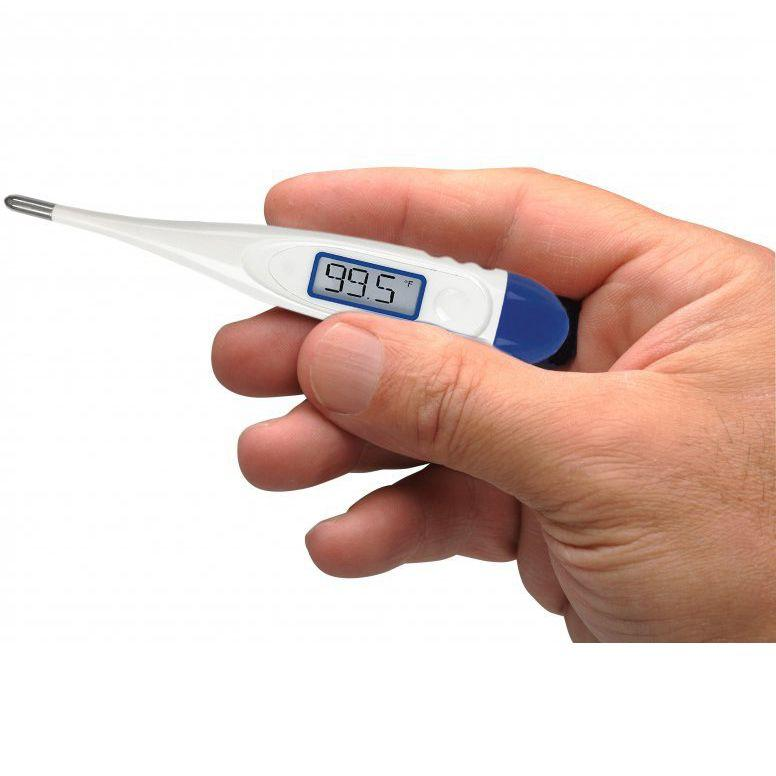 ADC Adtemp 419 Digital Hypothermia Thermometer in hand