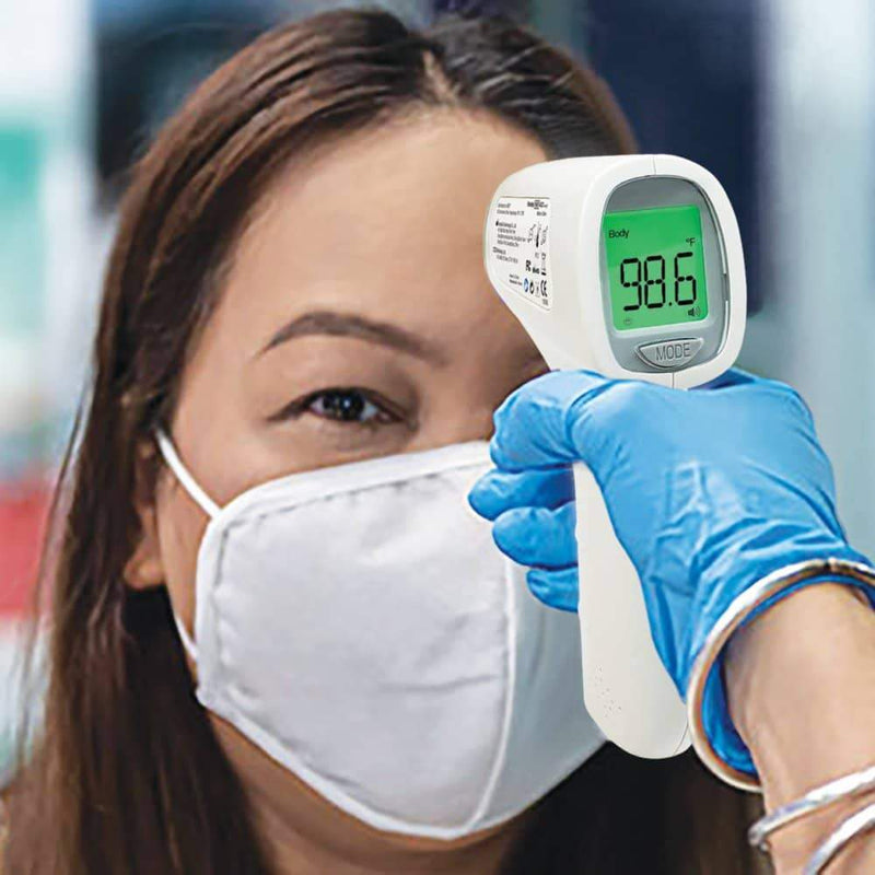 ADC Adtemp 433 Non-Contact Thermometer in use