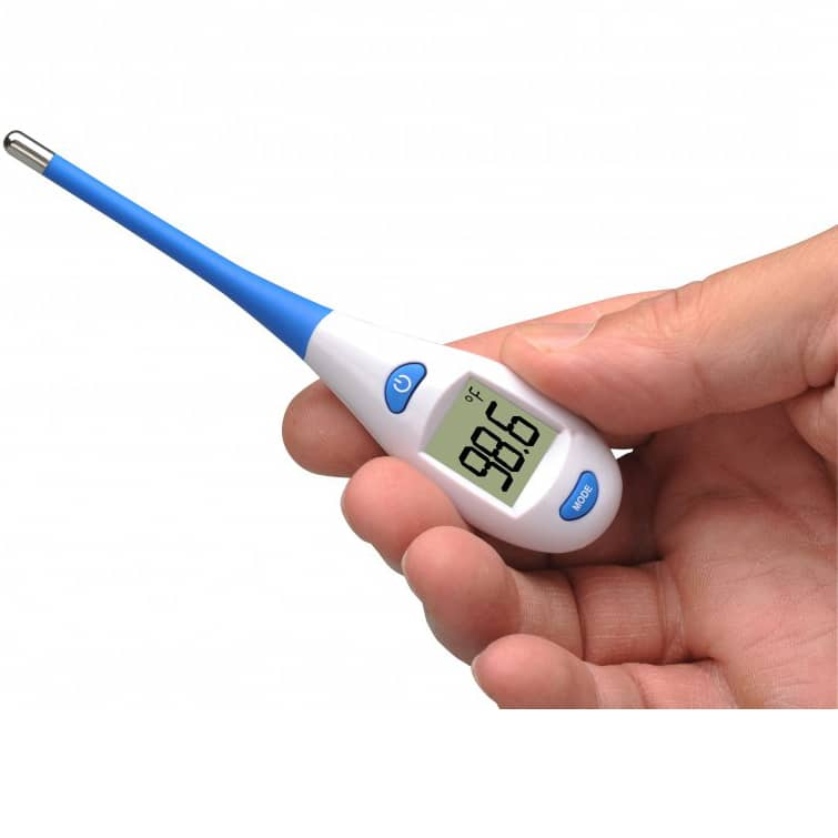 ADC Adtemp Ultra 417 Digital Thermometer in hand