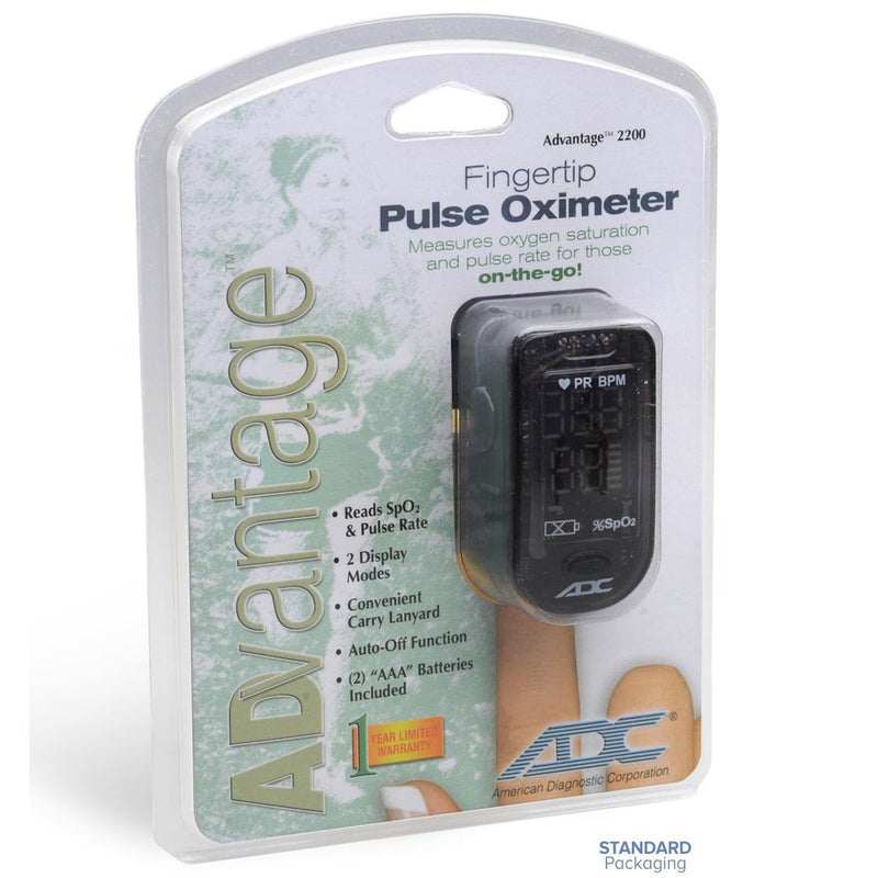 ADC Advantage 2200 Fingertip Pulse Oximeter packaging