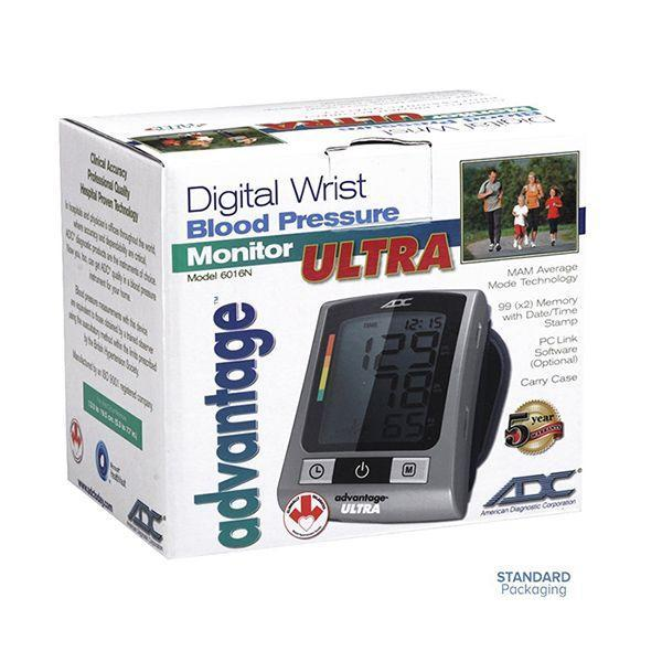 ADC Advantage 6016N Digital Wrist Blood Pressure Monitor Packaging
