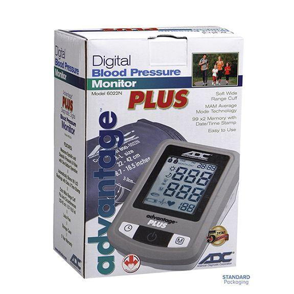 ADC Advantage Plus 6022N Automatic Digital Blood Pressure Monitor Packaging