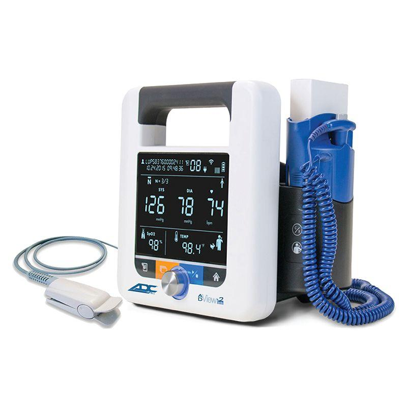 ADC ADView 2 Modular Diagnostic Station - Blood Pressure with ChipOx Nellcor Compatible SpO2 Module and Temperature Module