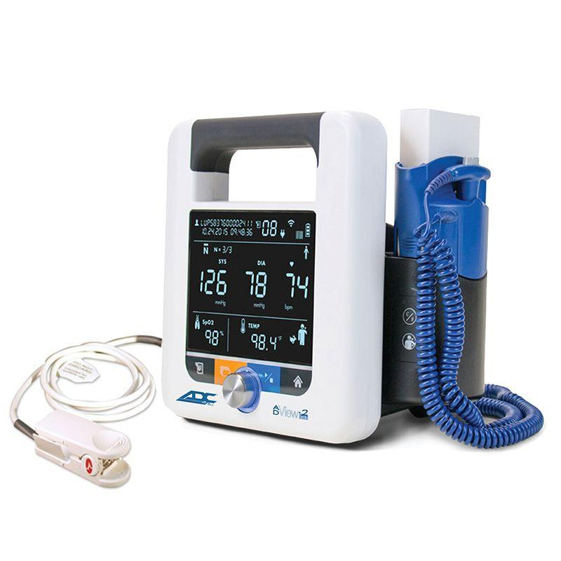 ADC ADView 2 Modular Diagnostic Station - Blood Pressure with Masimo SET SpO2 Module and Temperature Module