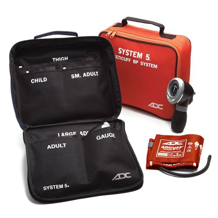 ADC Carry Case for System 5 Portable 5 Cuff Sphygmomanometer Multicuff Kit - Orange