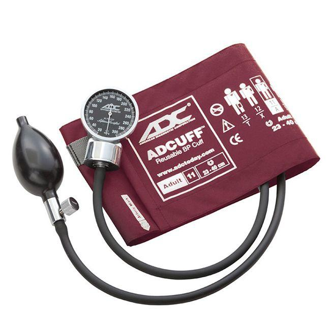 ADC Diagnostix 700 Pocket Aneroid Sphygmomanometer - Adult - Burgundy