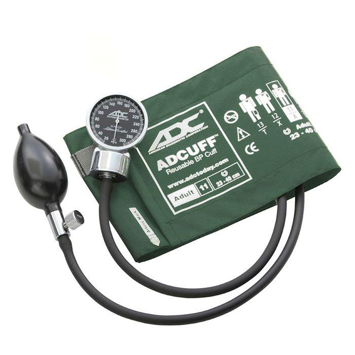 ADC Diagnostix 700 Pocket Aneroid Sphygmomanometer - Adult - Dark Green