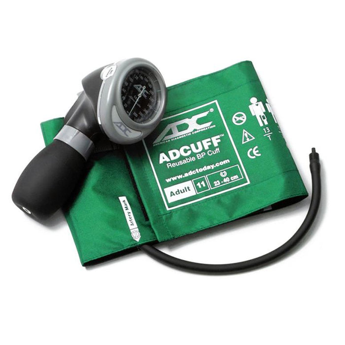 ADC Diagnostix 703 Palm Aneroid Sphygmomanometer - Adult - Green