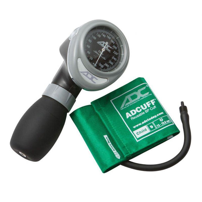 ADC Diagnostix 703 Palm Aneroid Sphygmomanometer - Child - Green