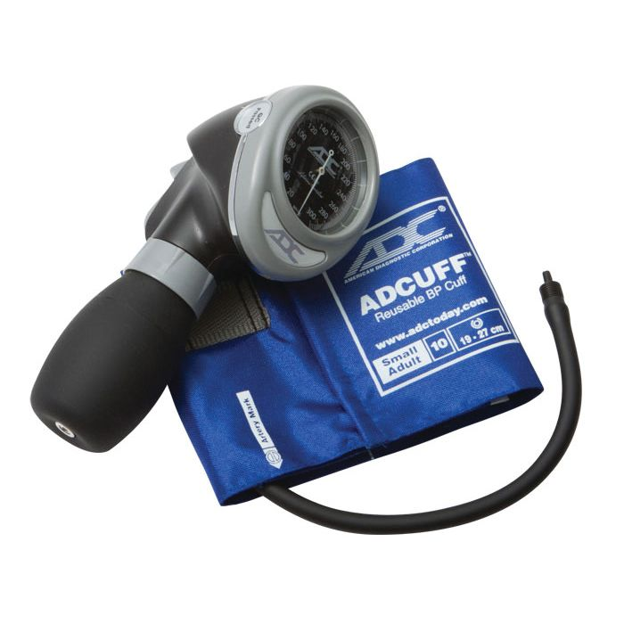 ADC Diagnostix 703 Palm Aneroid Sphygmomanometer - Small Adult - Royal Blue