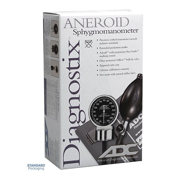 ADC Diagnostix 703 Palm Aneroid Sphygmomanometer - Small Adult - Packaging