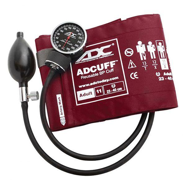 ADC Diagnostix 720 Pocket Aneroid Sphygmomanometer - Adult - Burgundy