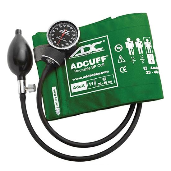 ADC Diagnostix 720 Pocket Aneroid Sphygmomanometer - Adult - Green